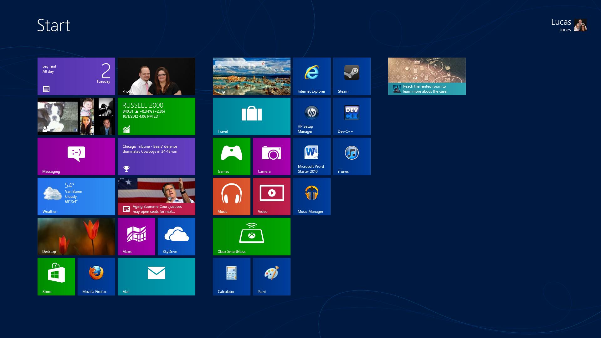 Windows Wallpaper Tile: Pin Window Broken Screen Wallpaper